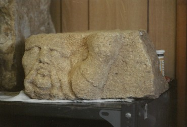 The Barbarian head, in the site hut.